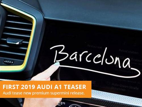 First 2019 Audi A1 Teaser