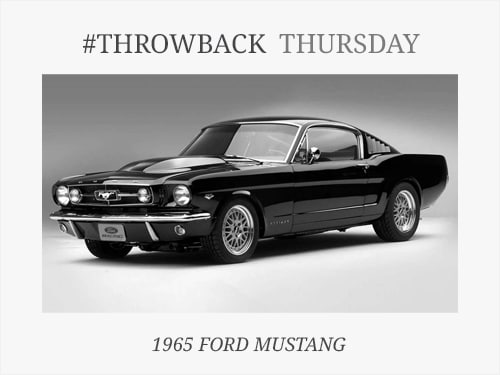 Throwback Thursday: 1965 Ford Mustang