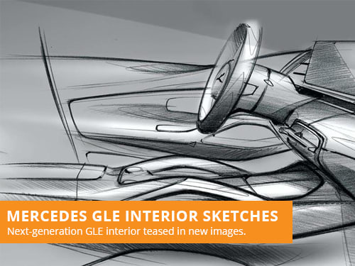 Mercedes GLE Interior Sketches