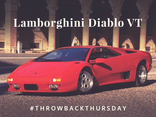 Throwback Thursday: Lamborghini Diablo VT