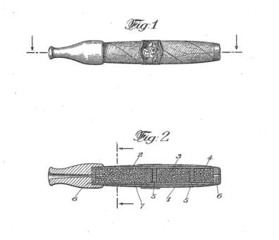 """invenzione della sigaretta elettronica ; l'inalatore """"sigaro"""" di Ignazio Bucceri"""