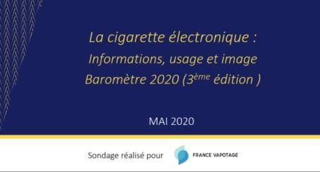 Sondaggio France Vapotage maggio 2020