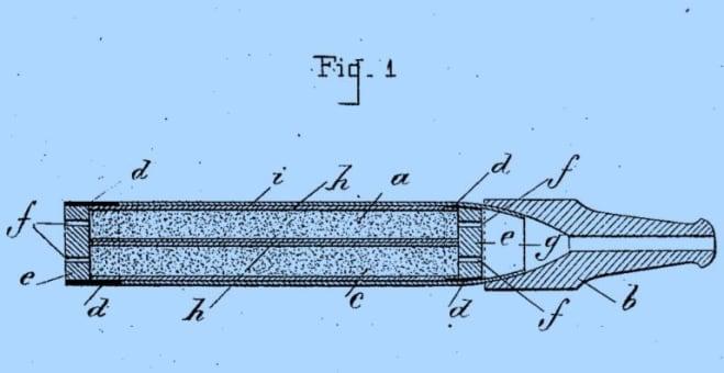 invenzione della sigaretta elettronica: Figure 1 del brevetto di Henry Ferré