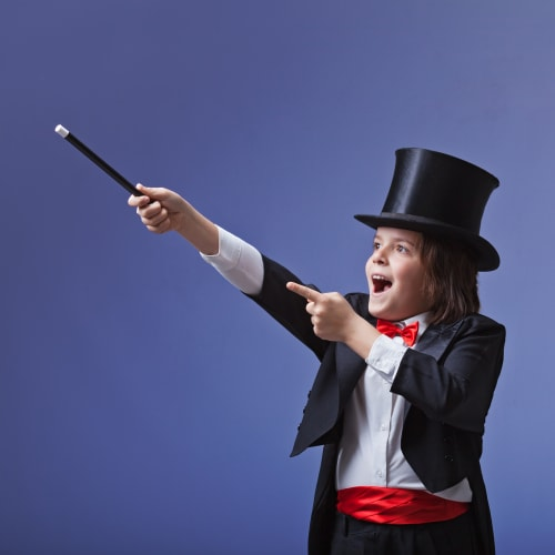 Anniversaire avec magicien