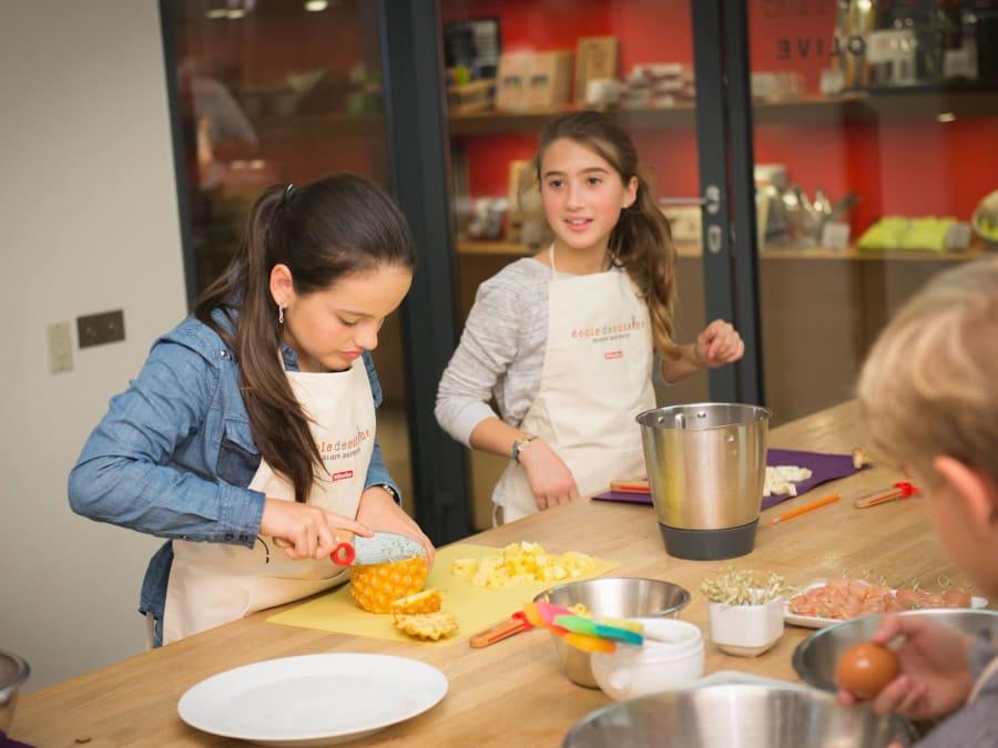 Atelier cuisine Kids à l'Ecole de cuisine Ducasse