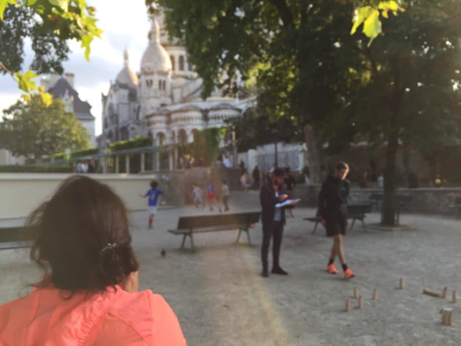 Olympiades entre amis sur la Butte Montmartre