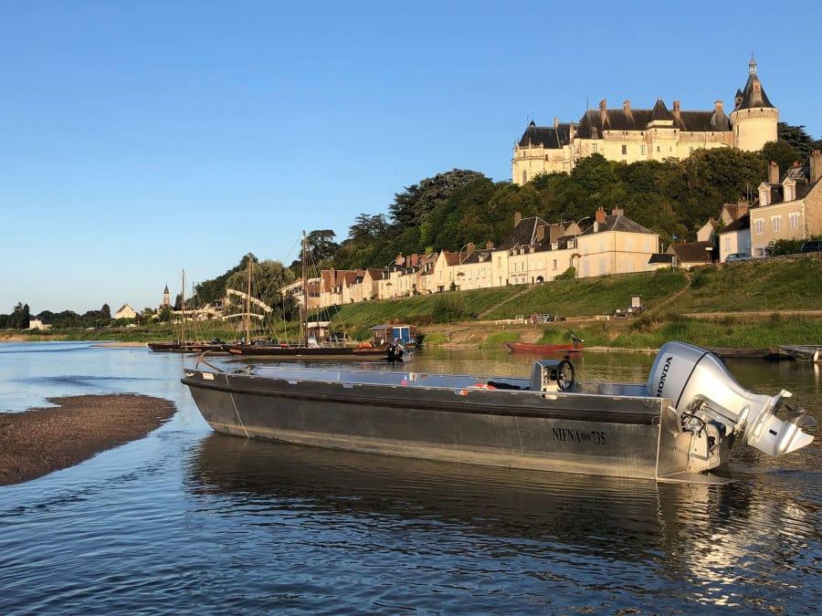 Balade en bateau sur la Loire proche de Blois (41)