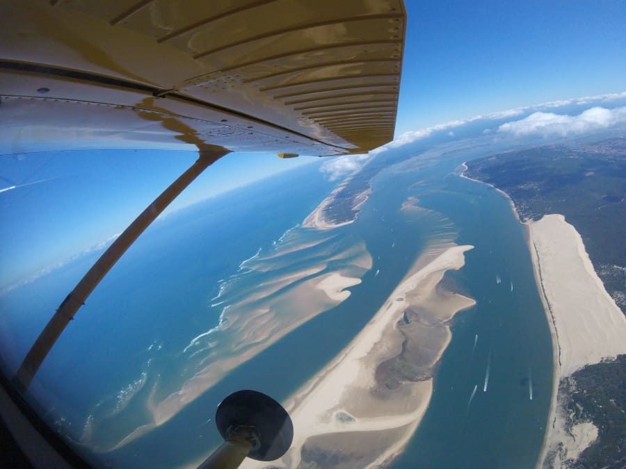 Baptême de saut en parachute tandem au bassin d'Arcachon