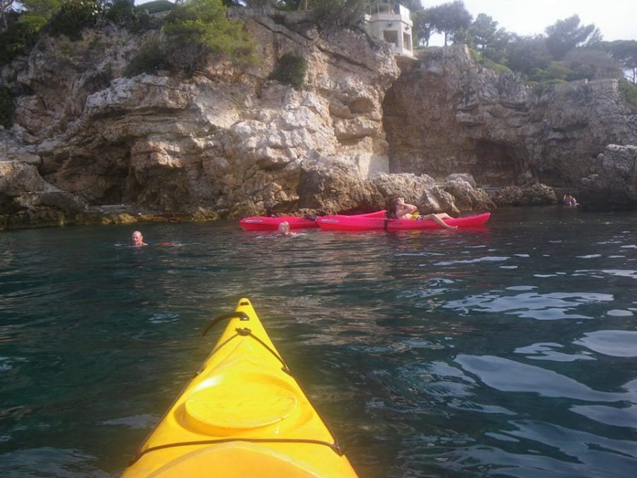 Kayak de mer dans la Baie de Villefranche près de Nice (06)
