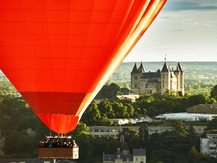 Vol en Montgolfière depuis Saumur : les Châteaux de la Loire