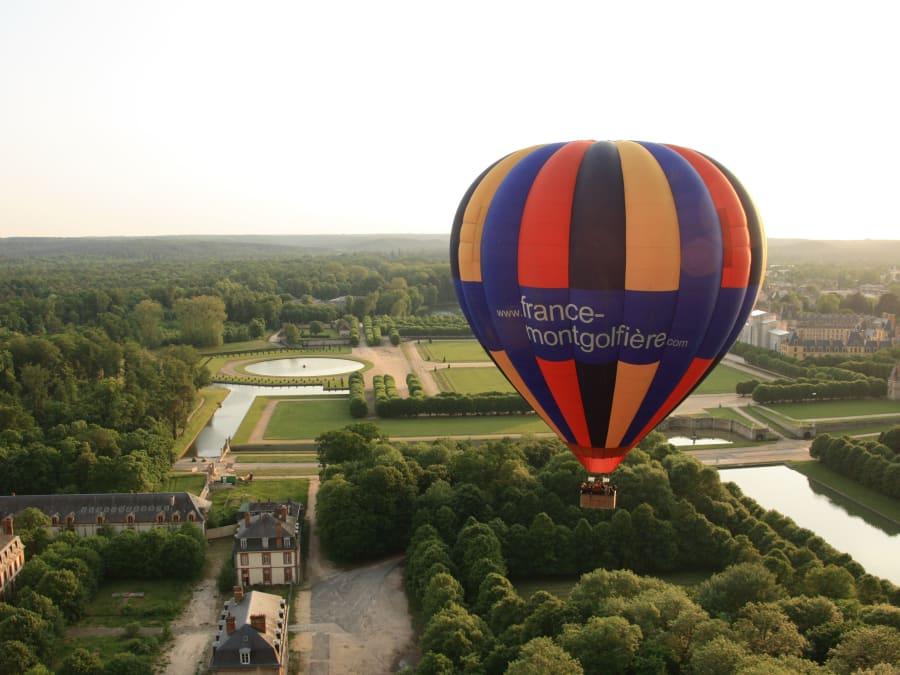 Fontainebleau vu du ciel - Vol en Montgolfière proche de Paris