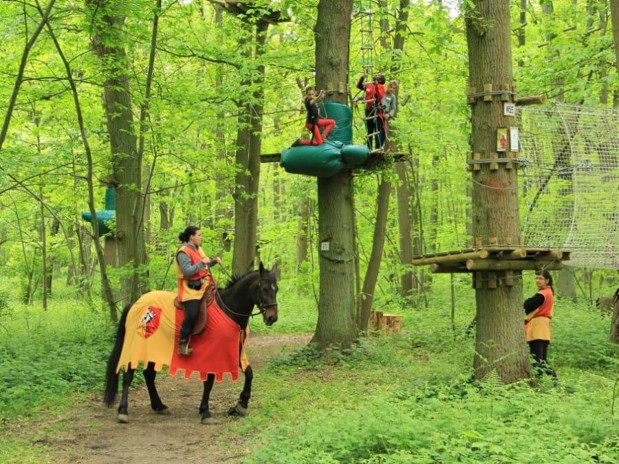 Parcours d'accrobranche au Sherwood Parc à Viarmes (95)
