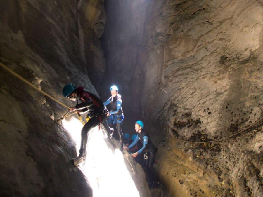 Canyoning dans le canyon de l'infernet en Chartreuse (38)