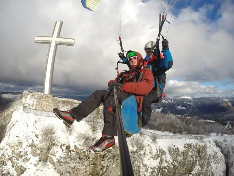 Baptême en Parapente dans le ciel de Savoie (73)