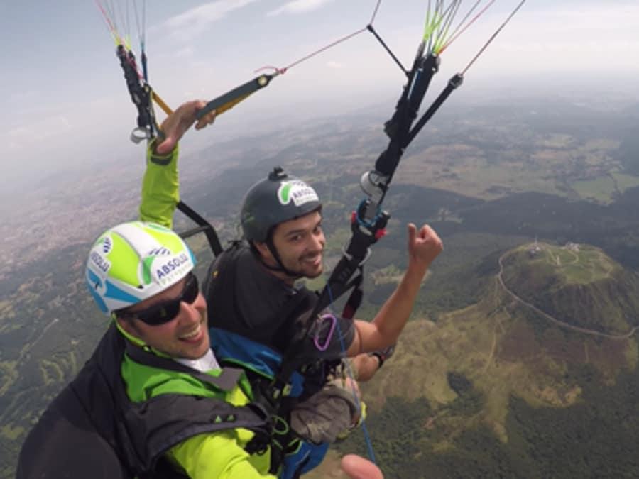 Vol  de durée en Parapente biplace (30 - 40 min) au Puy de Dome