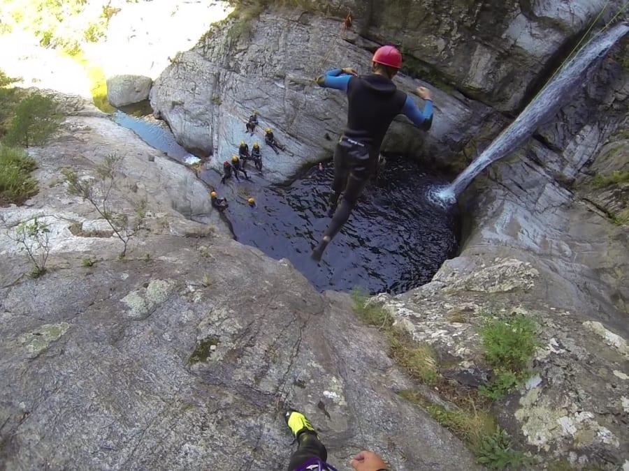 Canyoning dans le canyon du Gourg des Anelles (66)