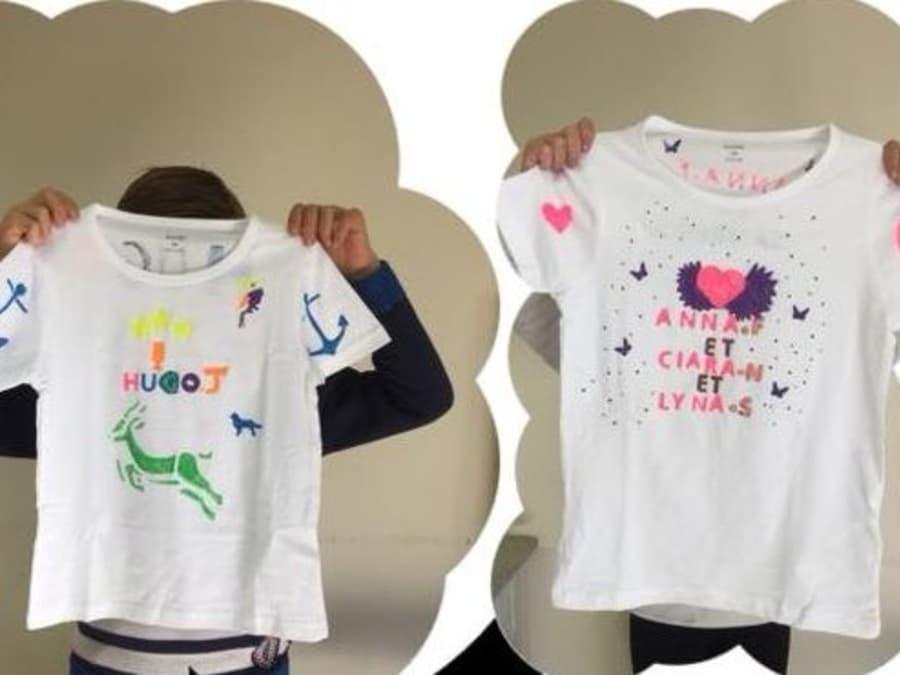 Anniversaire Customisation de T-shirt 5-12 ans à domicile