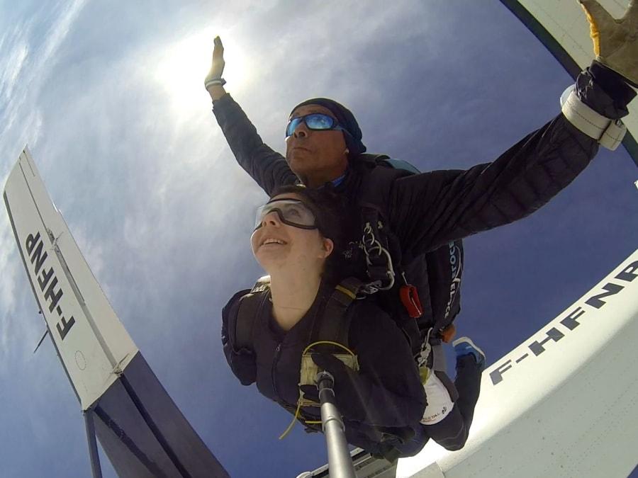 Saut en Parachute en Tandem proche de Paris et de Troyes