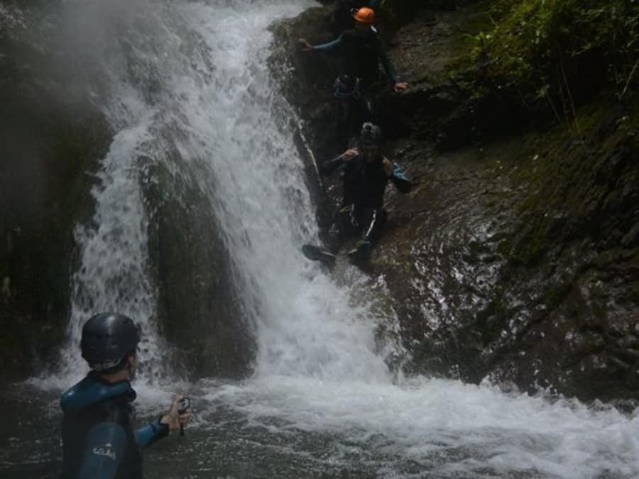 Canyoning  dans le canyon du Versoud (38)