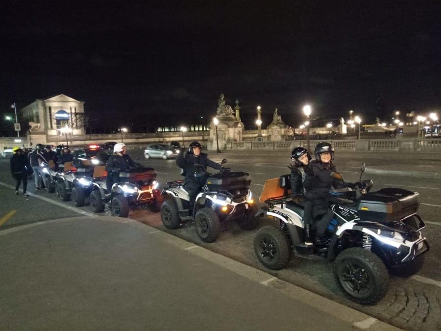 Balade nocturne en Quad à Paris - Circuit du Louvre
