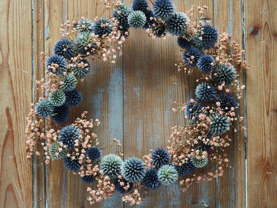 Atelier création couronne en fleurs séchées Truffaut Herblay