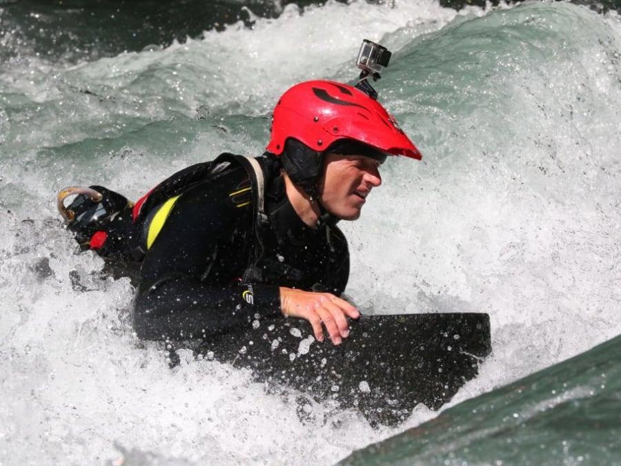 Descente initiation en Hydrospeed sur l'Isère (73)