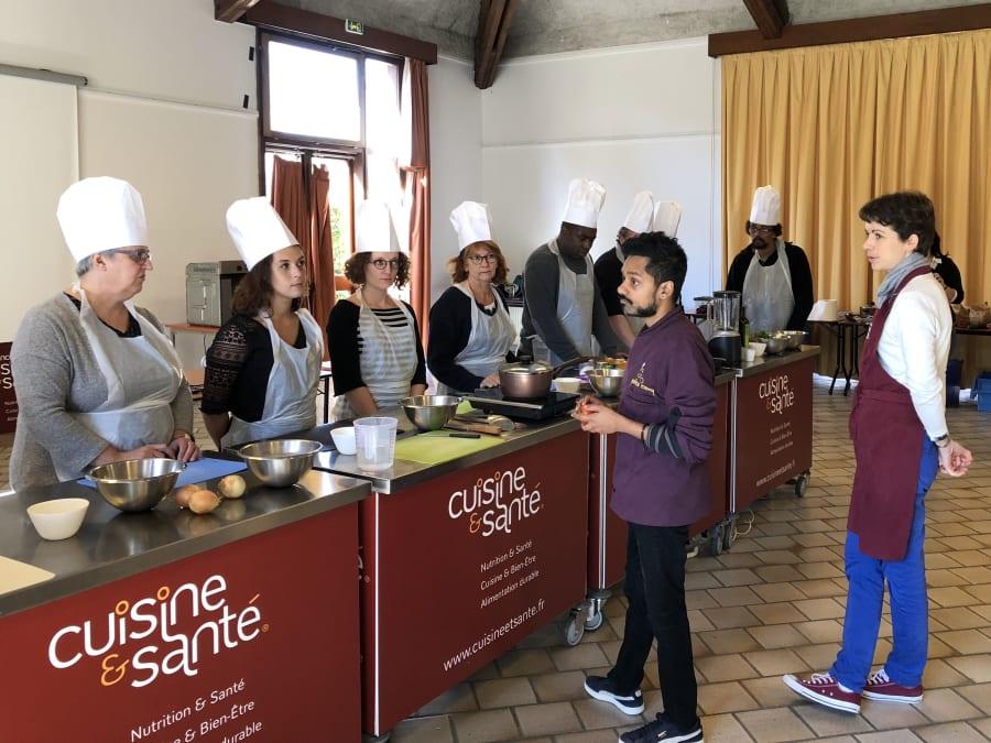 Team Building Atelier de Cuisine Santé Mobile