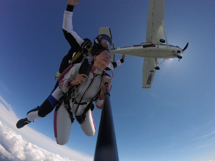 Saut en parachute tandem à Saint Dié des Vosges, proche Colmar
