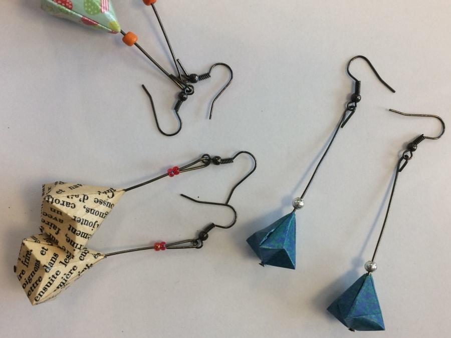 Anniversaire Création de Bijoux en Origami à Paris 14ème