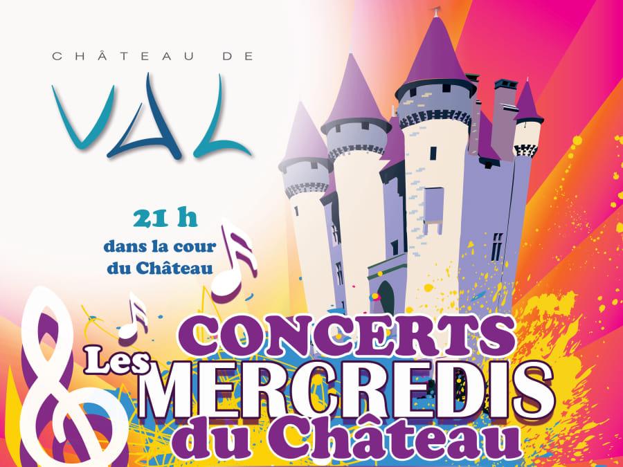 Musique au Château de Val : concerts les mercredis d'été