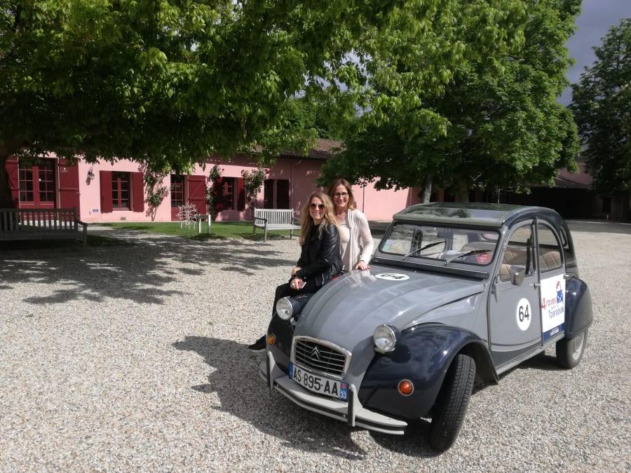 Visite privée du vignoble de Pessac-Léognan en 2CV