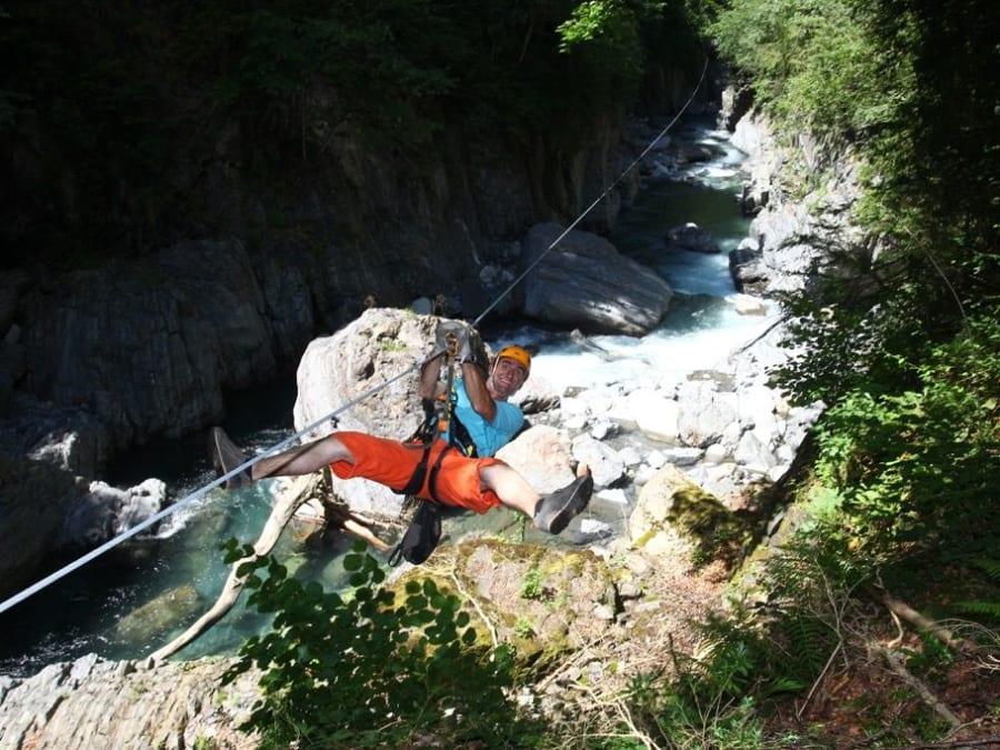 Parcours aventure Tyroliennes à Luz Saint Sauveur (Pyrénées 65)