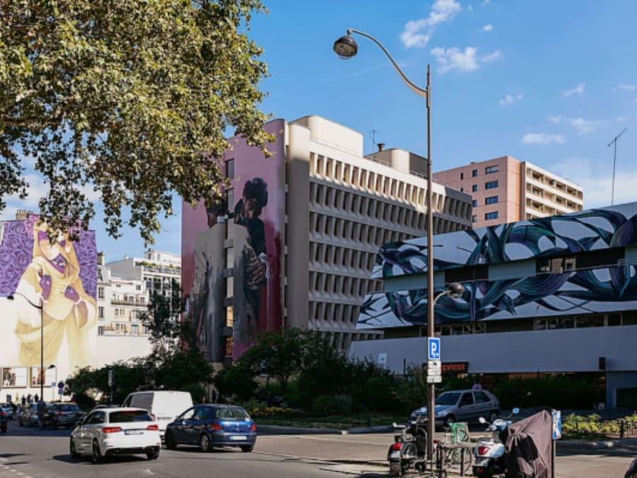 Visite Street Art Murs XXL dans Paris (13ème)