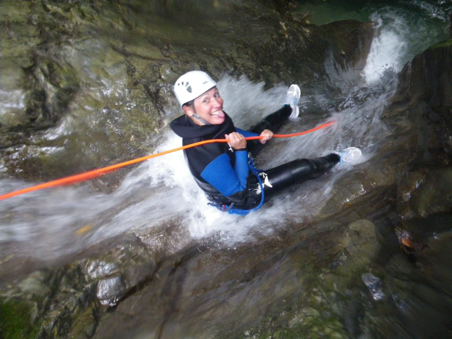 Canyoning dans le canyon d'Angon proche d'Annecy (74)