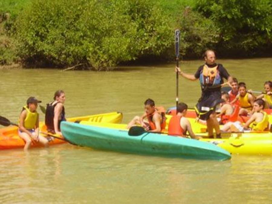 Balade en canoé sur la Gélise à côté d'Agen (47)