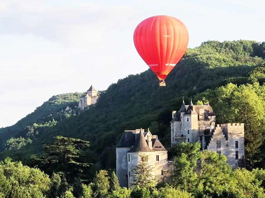 Tour en Montgolfière en Dordogne- Périgord, Beynac, Sarlat