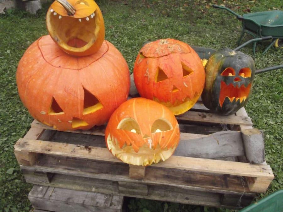 Animation enfants! sculpture de lanternes d'Halloween