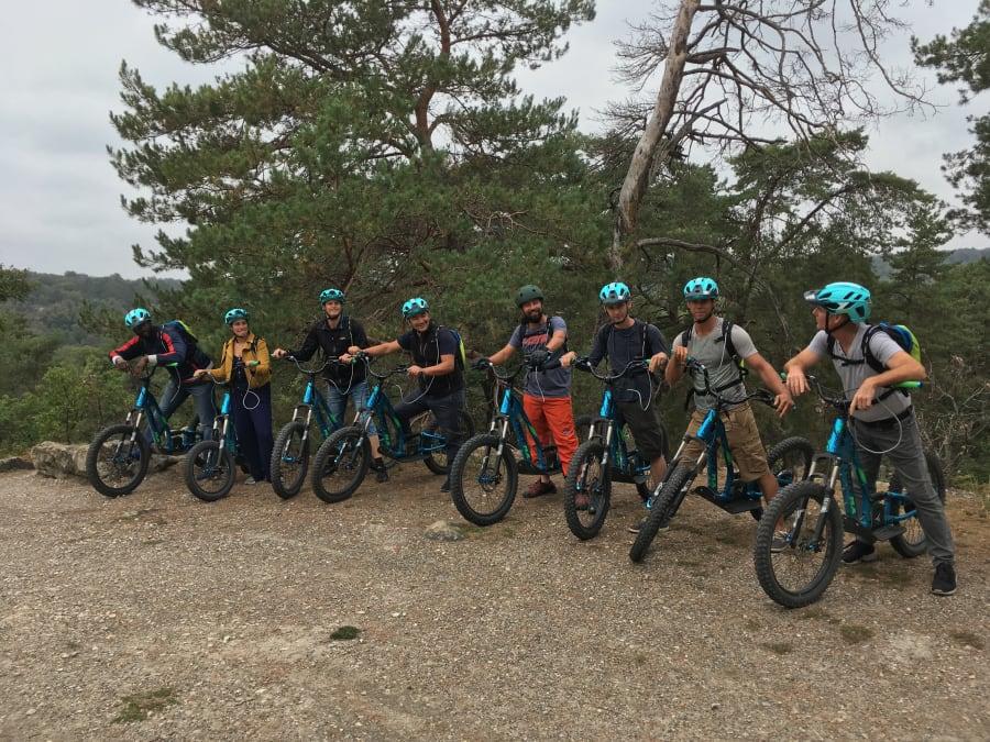 Team Building trottinette électrique à Fontainebleau (77)