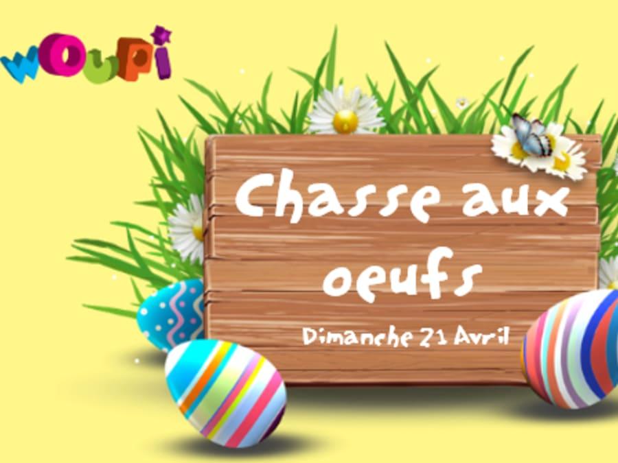 Chasse aux oeufs au Woupi Parc de Cesson Sévigné le 21 avril !