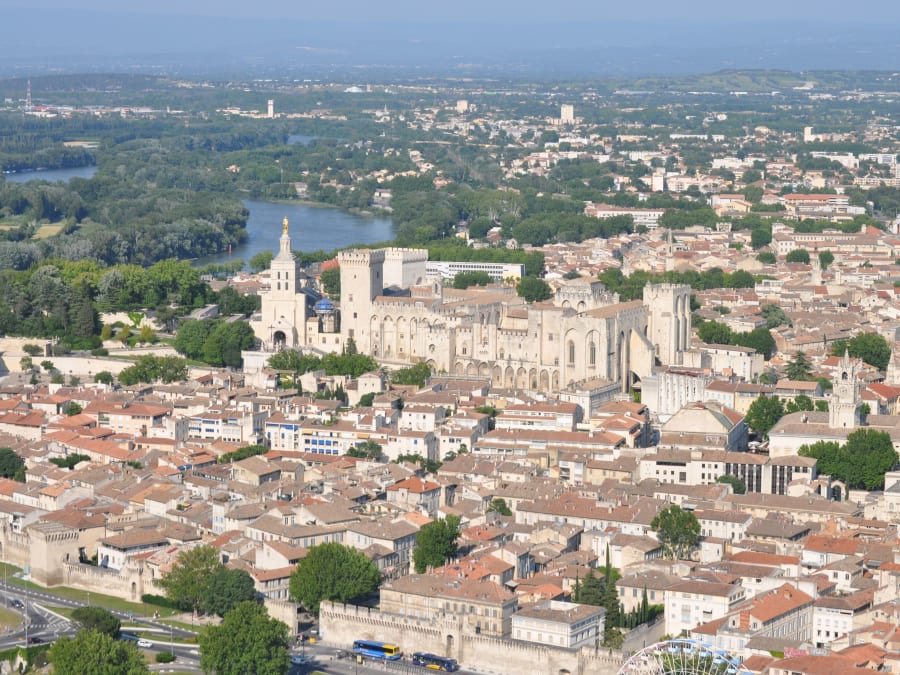 Vol en Hélicoptère entre Avignon et le Pont du Gard