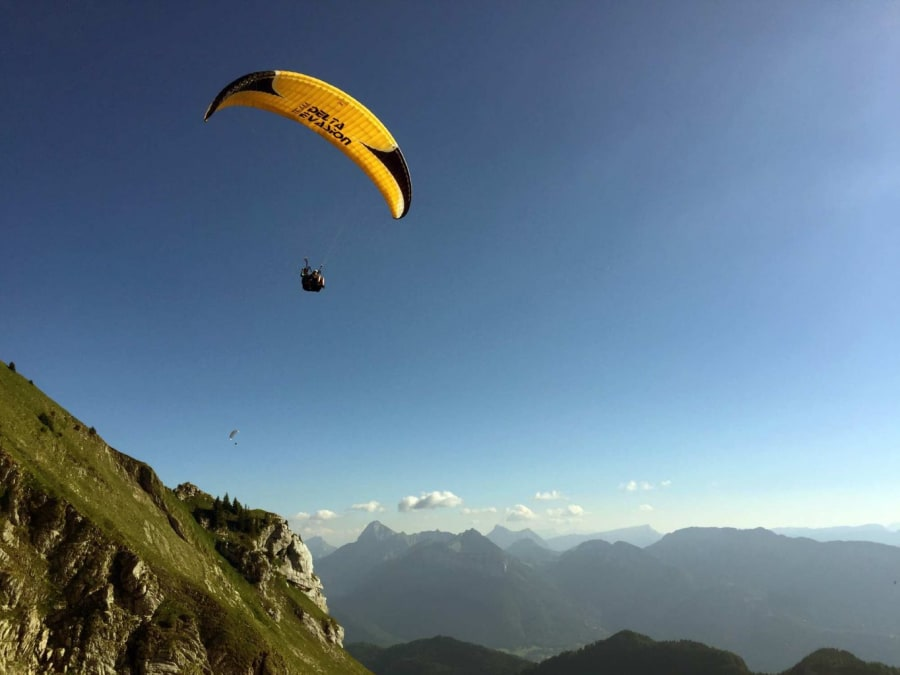 Vol en Parapente biplace au dessus du lac d'Annecy (74)