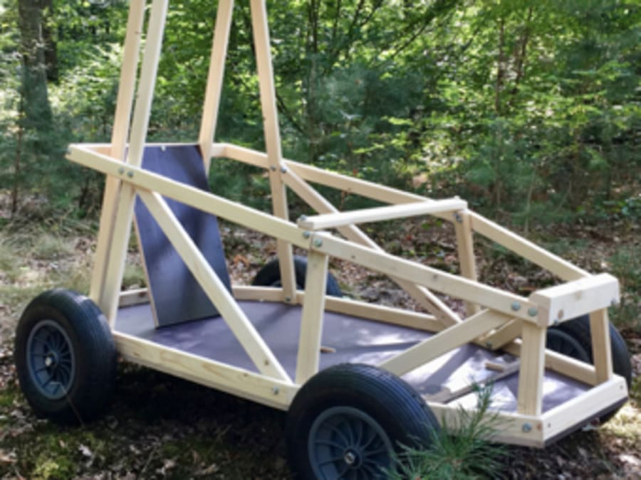 Team Building Wood Car
