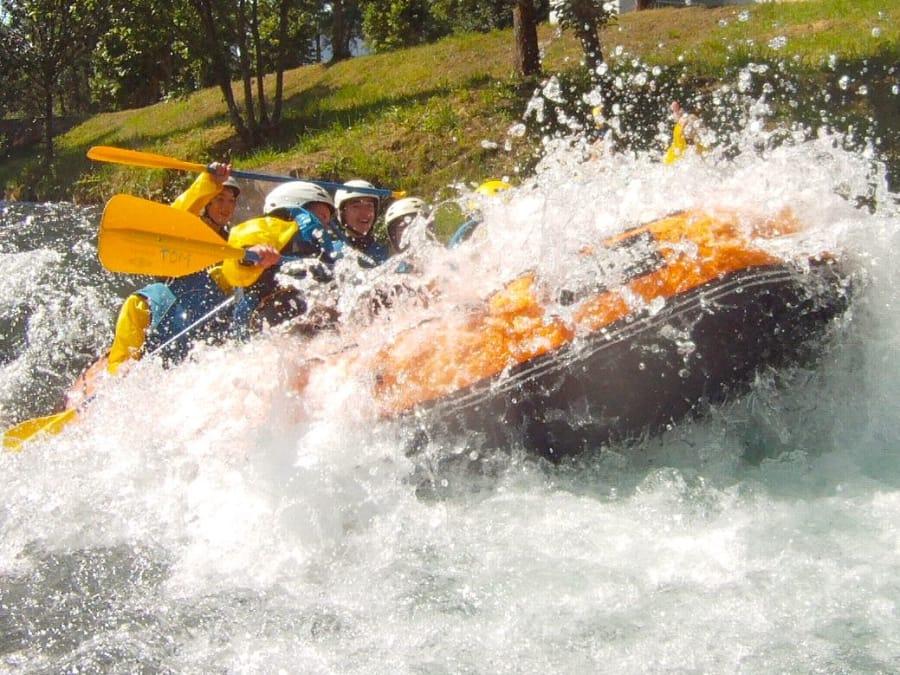 Descente en rafting près de Lourdes