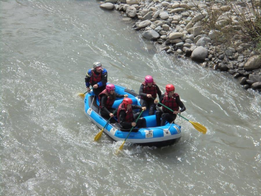Descente en rafting de la Drac, dans la vallée du Champsaur