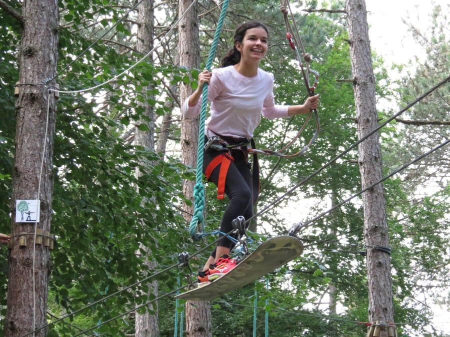 Parcours aventure Accrobranche à Dijon au Parc In Forest (21)