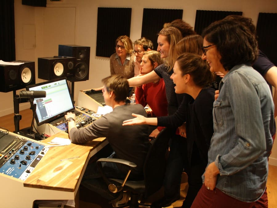 Team Building Enregistrement de Chanson en Studio à Paris 6ème