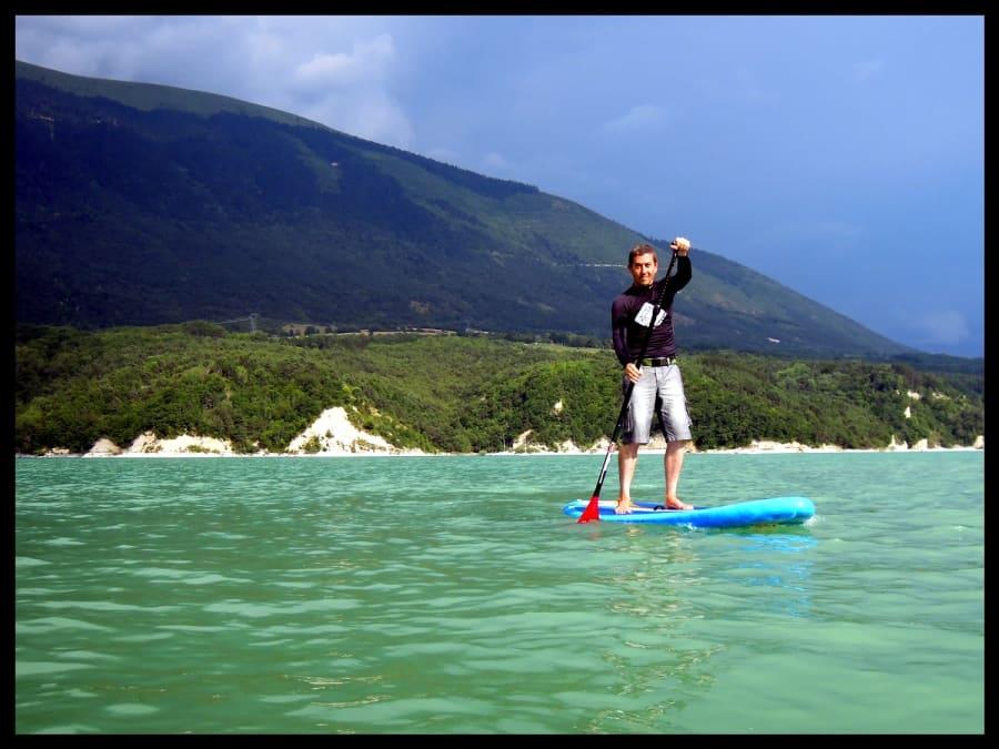 Location de paddle au lac du Monteynard (38)