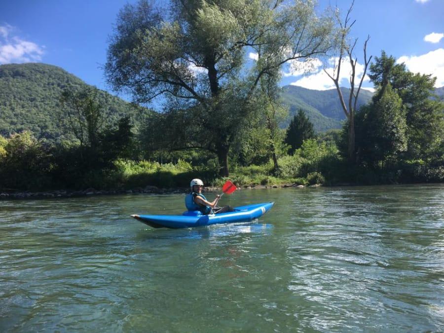 """Descente en Kayak """"Hairboat"""" près de Lourdes"""