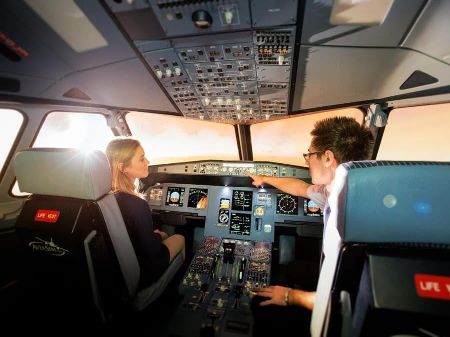 Stage antistress en avion sur simulateur à Aix-en-Provence (13)