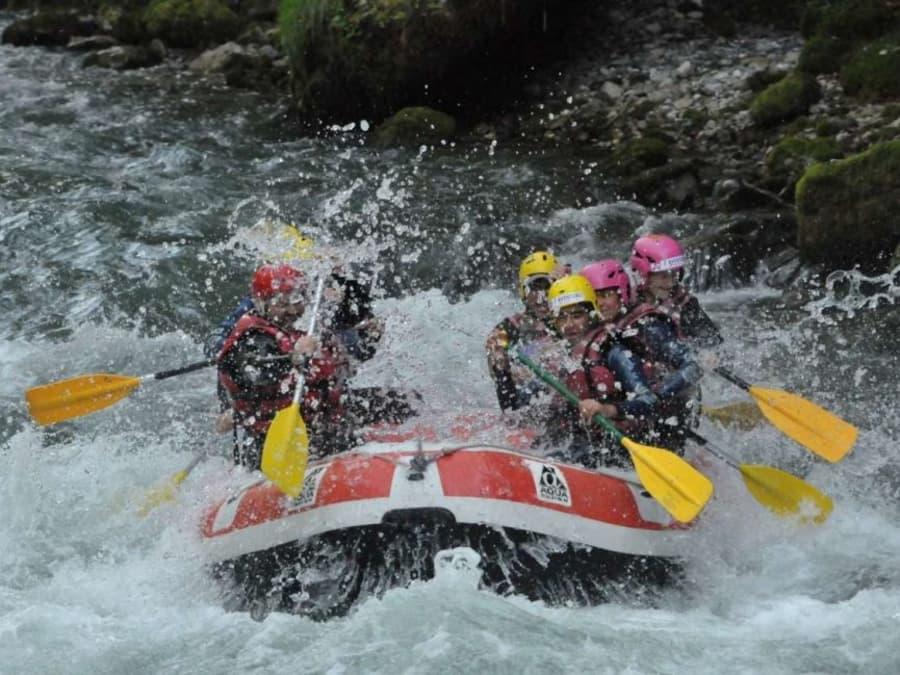 Rafting sur la Dranse proche de Thonon (74)